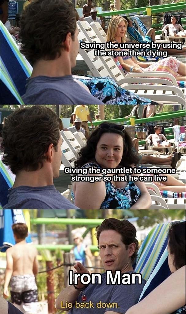 Avengers Endgame Meme: It's Always Sunny in Philadelphia, dennis, lie back down.