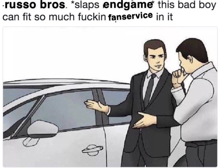 Motor vehicle - russo bros. *slaps endgame this bad boy can fit so much fuckin fanservice in it 4p