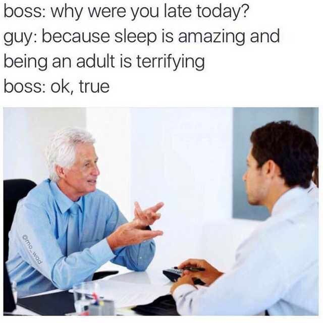 dank memes-boss asking why you are late for work