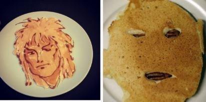 'Instagram vs. Reality' meme - David Bowie pancake