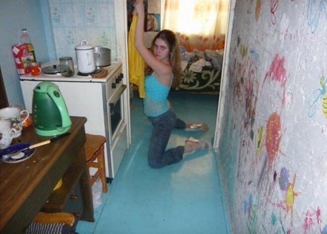 girl posing oddly