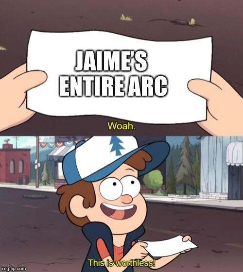 Cartoon - JAIMES ENTIREARC Woah. This is worthless! imgflip.com
