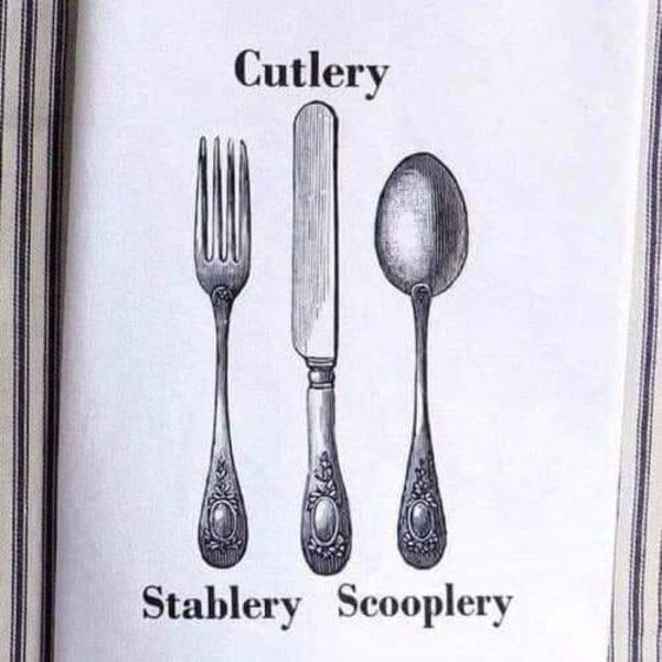 Cutlery - Cutlery Stablery Scooplery