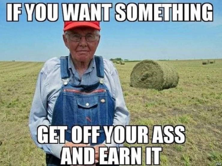 Grass - IF YOU WANT SOMETHING GET OFF YOUR ASS AND EARN IT VOA