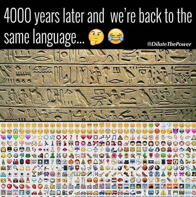 Text - 4000 years later and we're back to the same language... @Dilute ThePower ? ! ATM 777