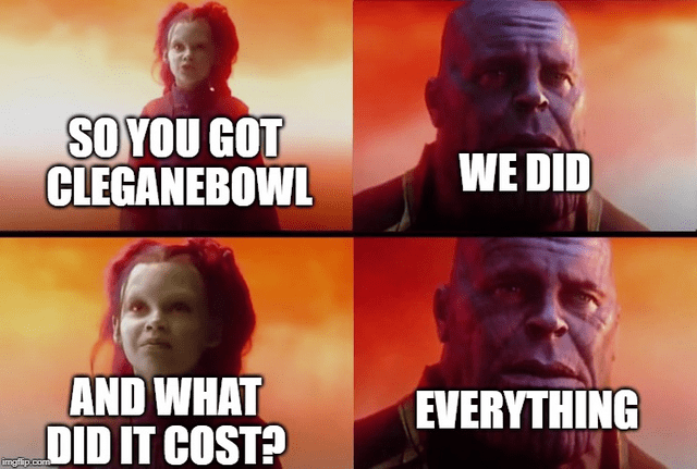 Font - SOYOU GOT CLEGANEBOWL WE DID AND WHAT OID IT COST? EVERYTHING ingflip.com
