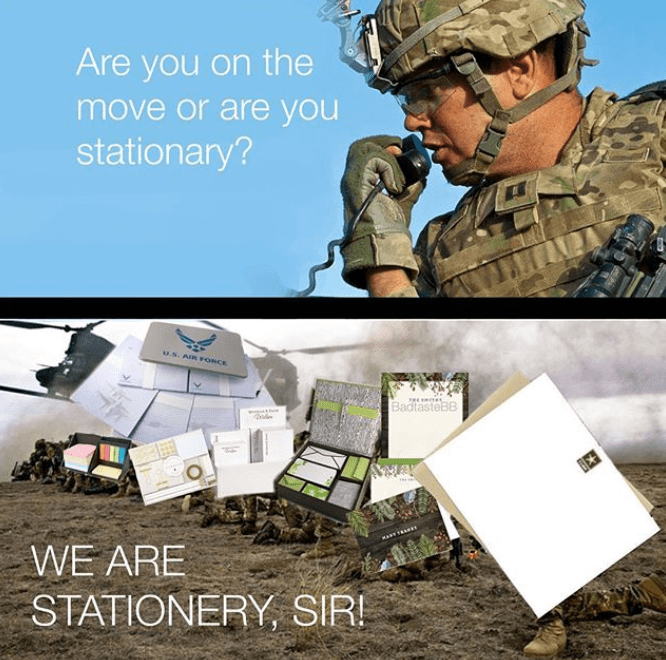 Military - Are you on the move or are you stationary? u.s. AIR rORCE HE ITE BadtasteBB MART TRARTI WE ARE STATIONERY SIR!