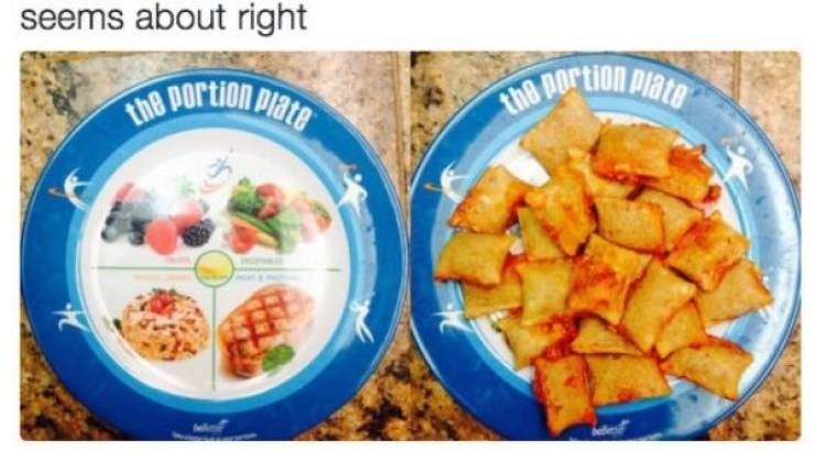 Food - seems about right 8 Dortion Plate the DOrtion Plate the