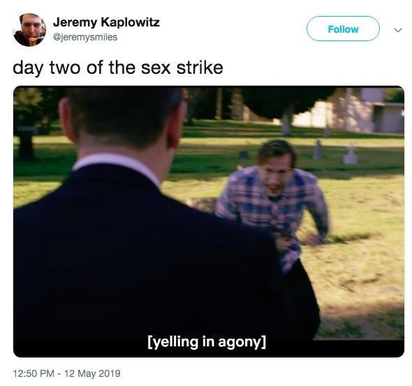 Funny meme about the 'sex strike'