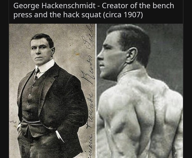 Bodybuilding - George Hackenschmidt - Creator of the bench press and the hack squat (circa 1907)