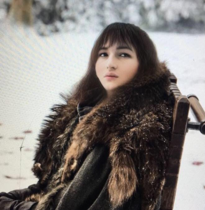 Photo of Bran Stark using Snapchat gender change filter.