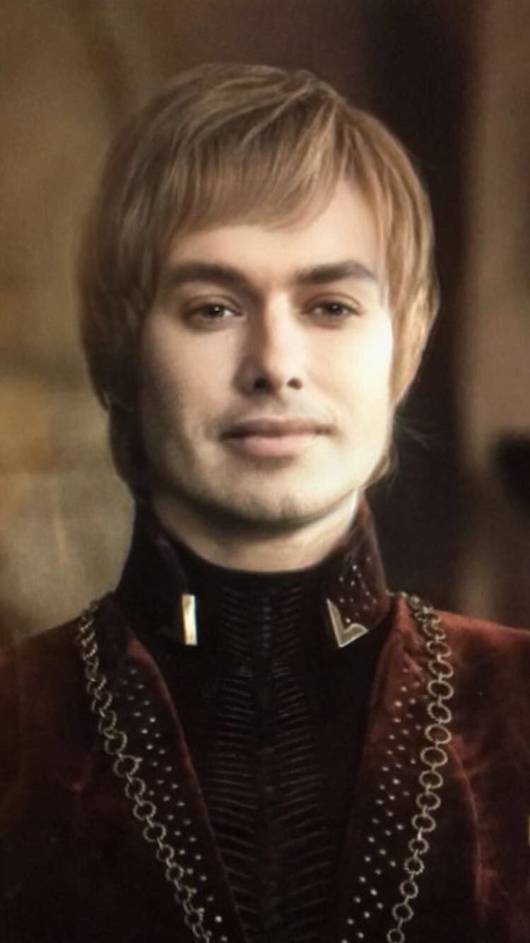 Photo of Cersei Lannister with Snapchat gender change filter, Lena Heady