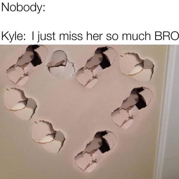Kyle Punches Drywall meme