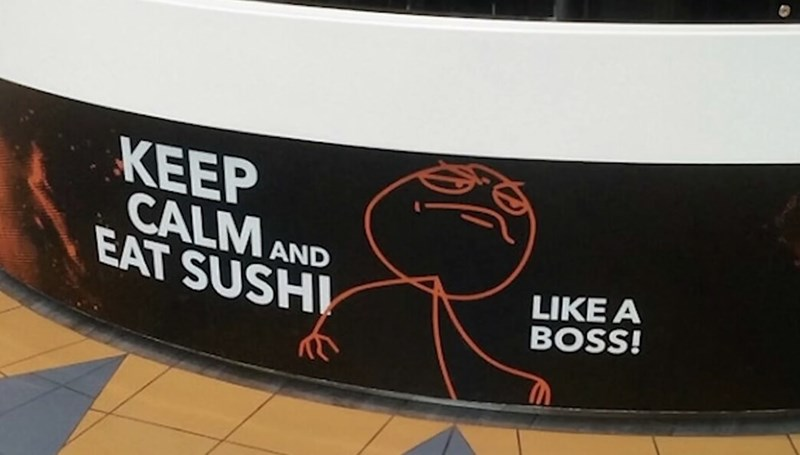 Banner - KEEP CALM AND EAT SUSHI LIKE A BOSS!