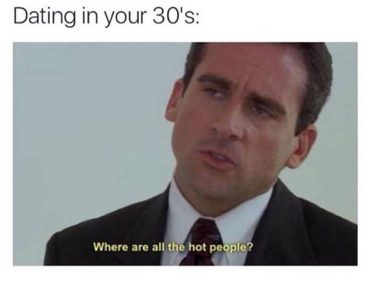 dating meme - Forehead - Dating in your 30's: Where are all the hot people?