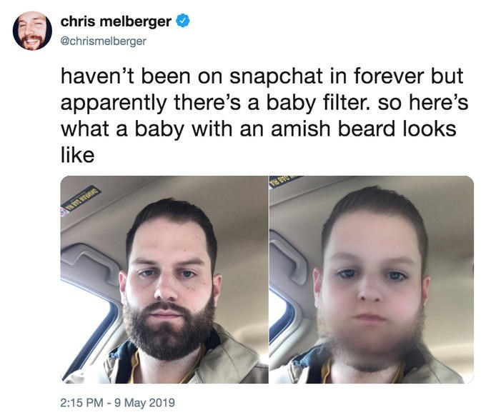 Snapchat baby filter