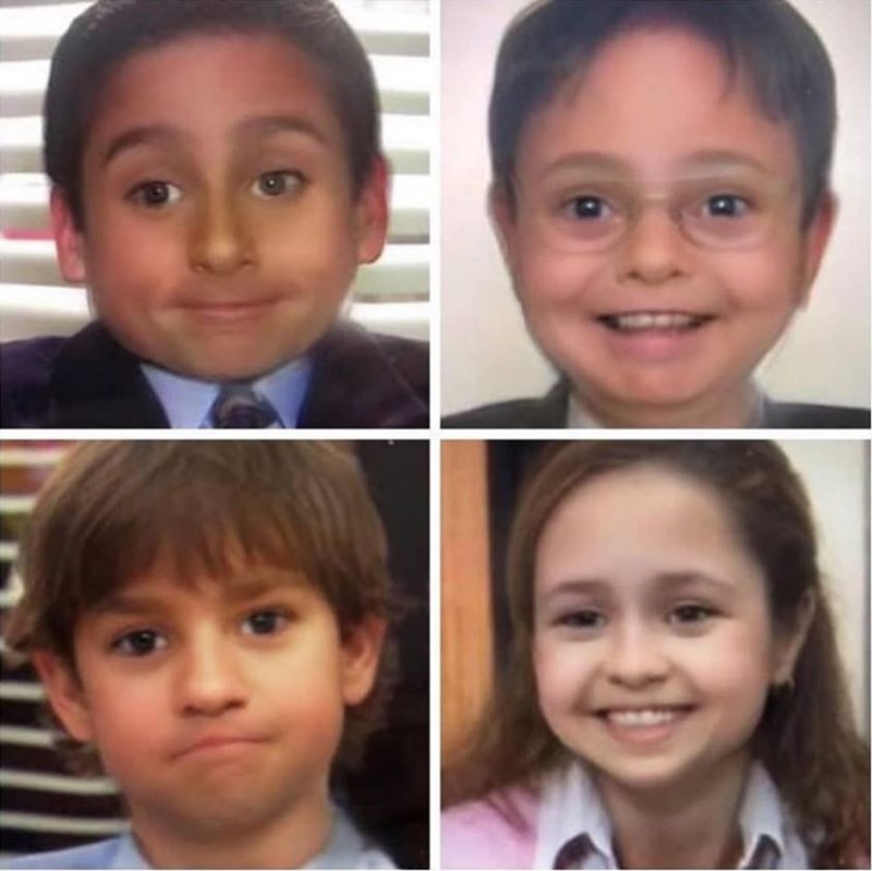 Snapchat baby filter - The Office