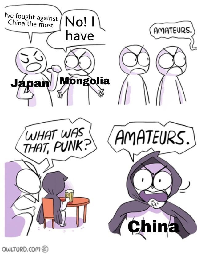 dank memes-japan vs mognolia vs china