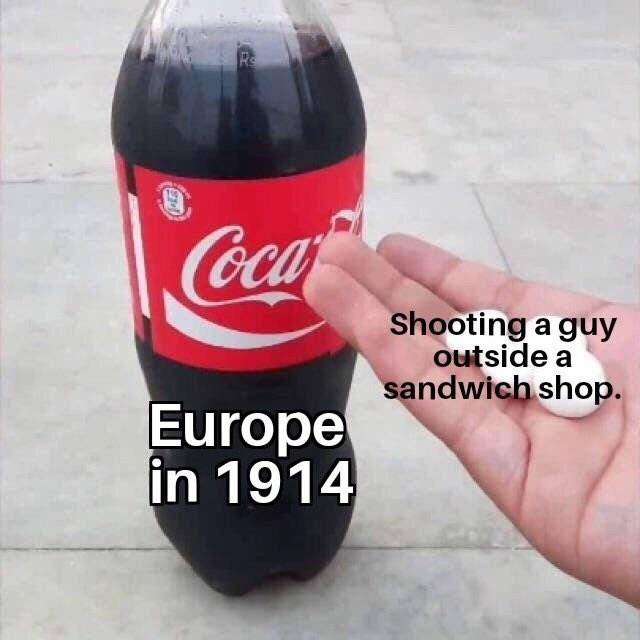dank memes-europe in 1914
