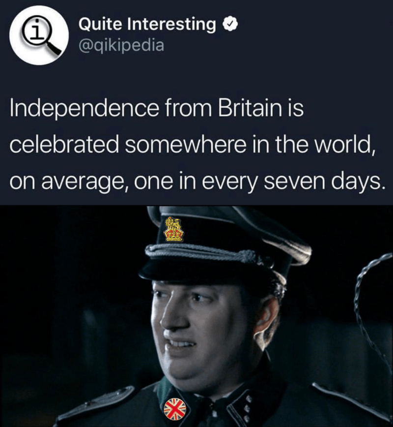 dank memes- celebrating independence from britain around the world