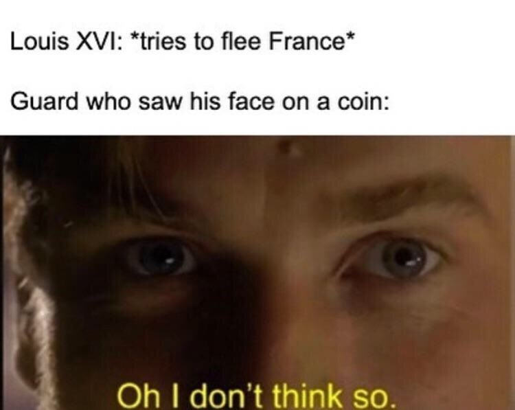 dank memes- louis trying to flee france