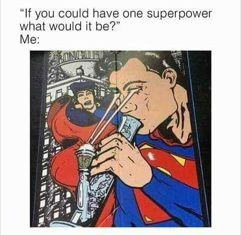 """Musical instrument - """"If you could have one superpower what would it be?"""" Me:"""