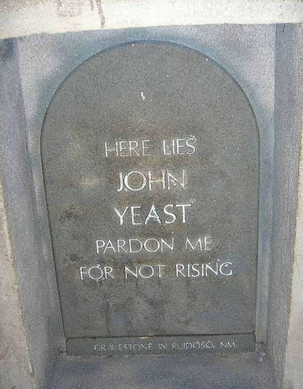 Headstone - HERE LIES JOHN YEAST PARDON ME FOR NOT RISING GRAESION N UIDOSO), NM