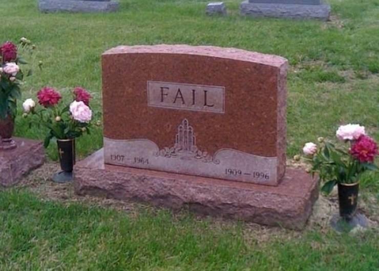 Grave - FAIL υoη 9 1909-1996