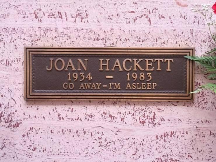 Text - JOAN HACKETT 1934 GO AWAY-I'M ASLEEP 1983