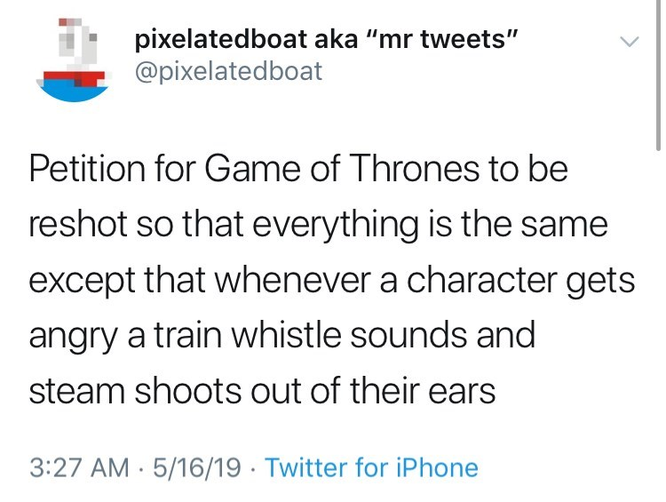 Tweet about game of thrones petition