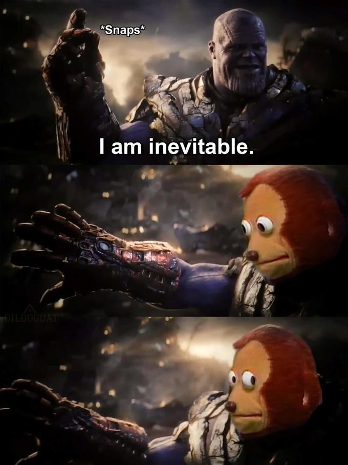 Thanos meme from AVengers: Endgame