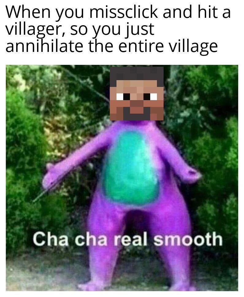 Funny Minecraft meme in honor of the game's 10th anniversary