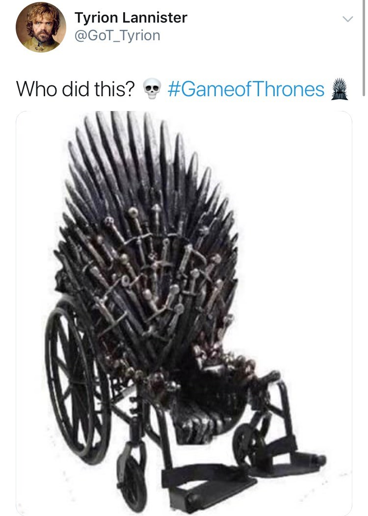 game of thrones reaction - Plant - Tyrion Lannister @GoT_Tyrion #Gameof Thrones Who did this?