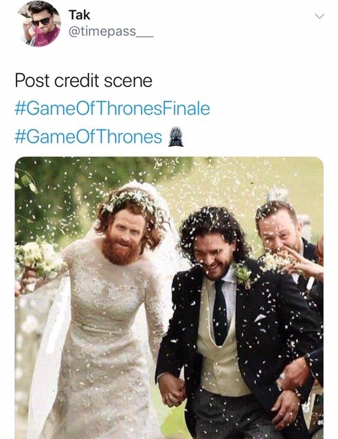 game of thrones reaction - Design - Tak @timepass Post credit scene #GameOfThrones Finale #GameOfThrones