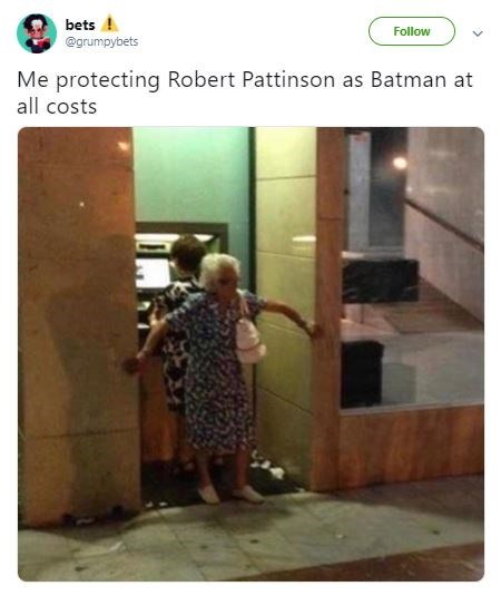 Funny meme about Robert Pattinson being cast as the new Batman