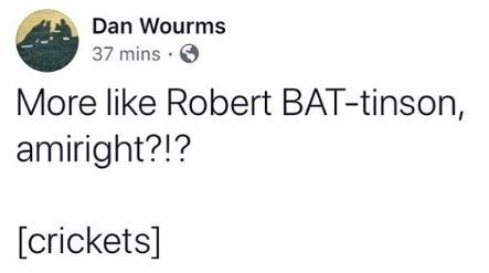 Funny tweet about Robert Pattinson being cast as the new Batman