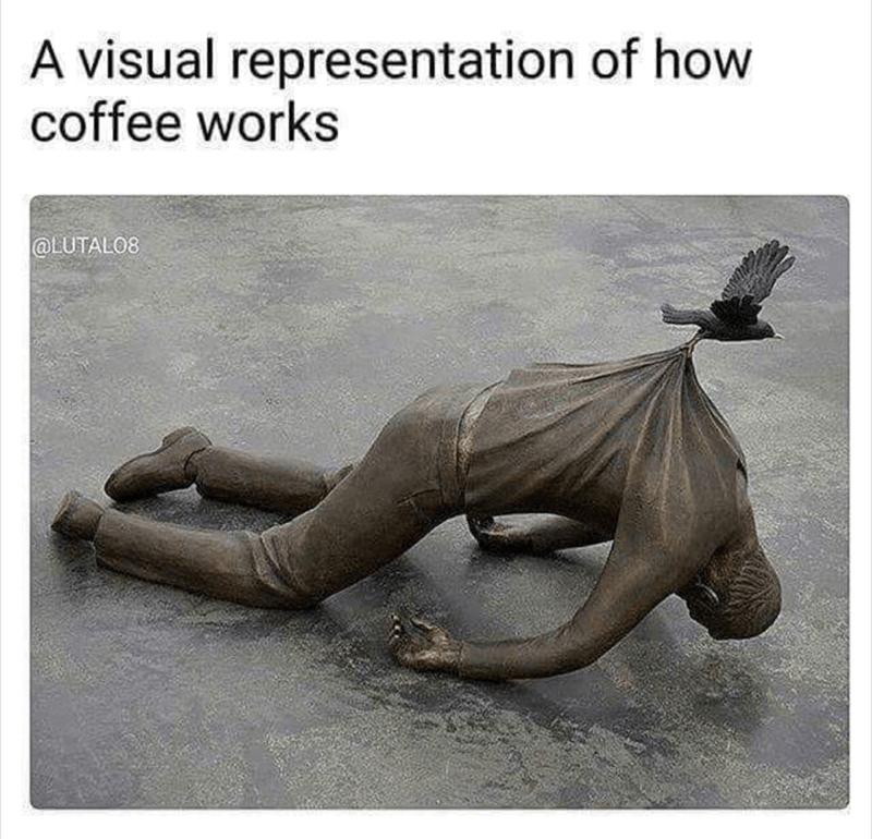 Adaptation - A visual representation of how coffee works @LUTALO8