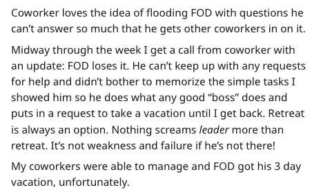 IT guy plan - Text - Coworker loves the idea of flooding FOD with questions he wer so much that he gets other coworkers in on it. Midway through the week I get a call from coworker