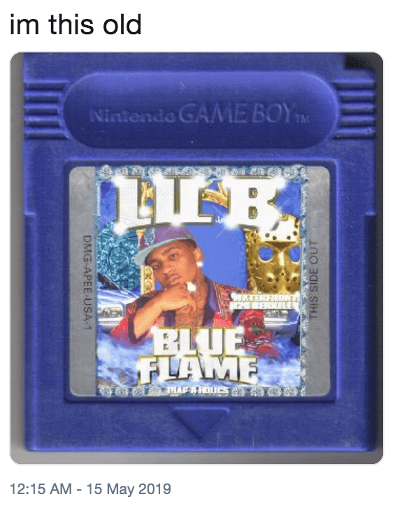'I'm this Old' meme featuring an old Gameboy game
