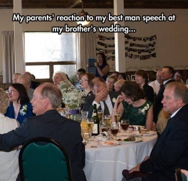 bad day - Meal - My parents reaction to my best man speech at my brother's weddin...