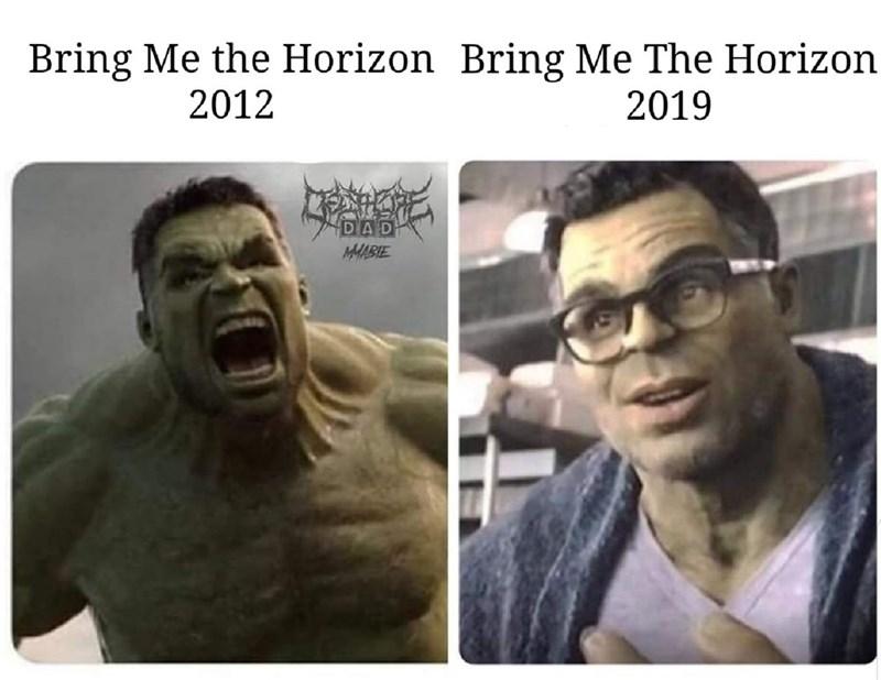 dank - Facial expression - Bring Me the Horizon Bring Me The Horizon 2012 2019 DAD MMABIE