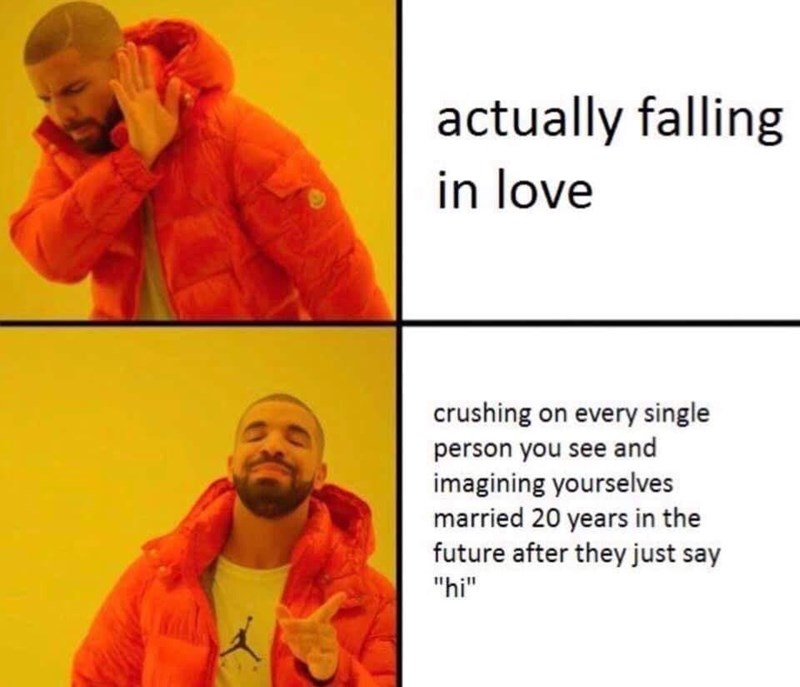 Drakepost about going for fleeting fantasies over falling in love with someone