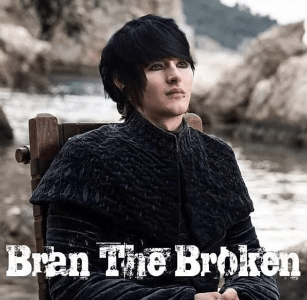 Funny meme about bran stark, bran the broken, emo, bran as an emo kid.