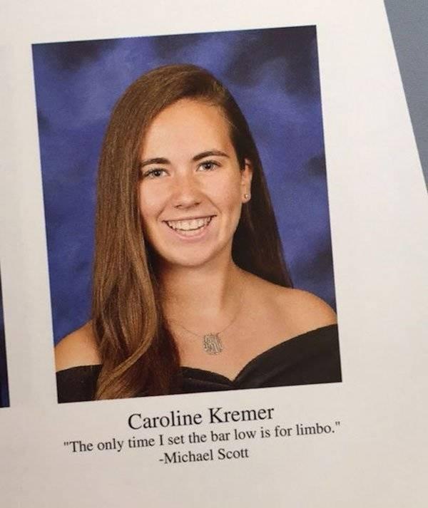 Funny yearbook senior quote