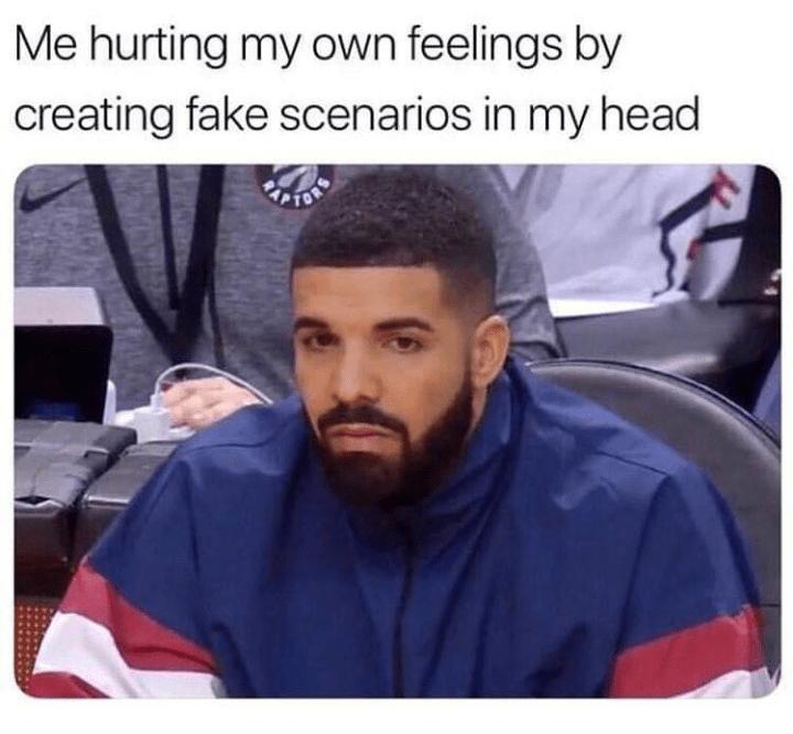 Hair - Me hurting my own feelings by creating fake scenarios in my head FOR