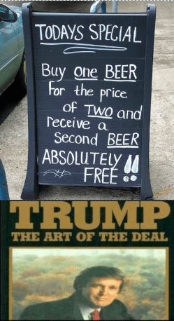 dank memes: meme about a bad deal featuring trump's book the art of the deal