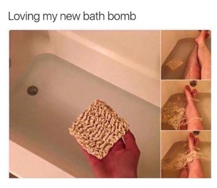 funny meme - Finger - Loving my new bath bomb