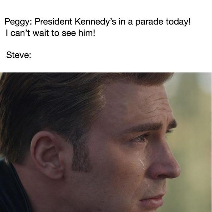 Steve Rogers/Captain America memes about president kennedy