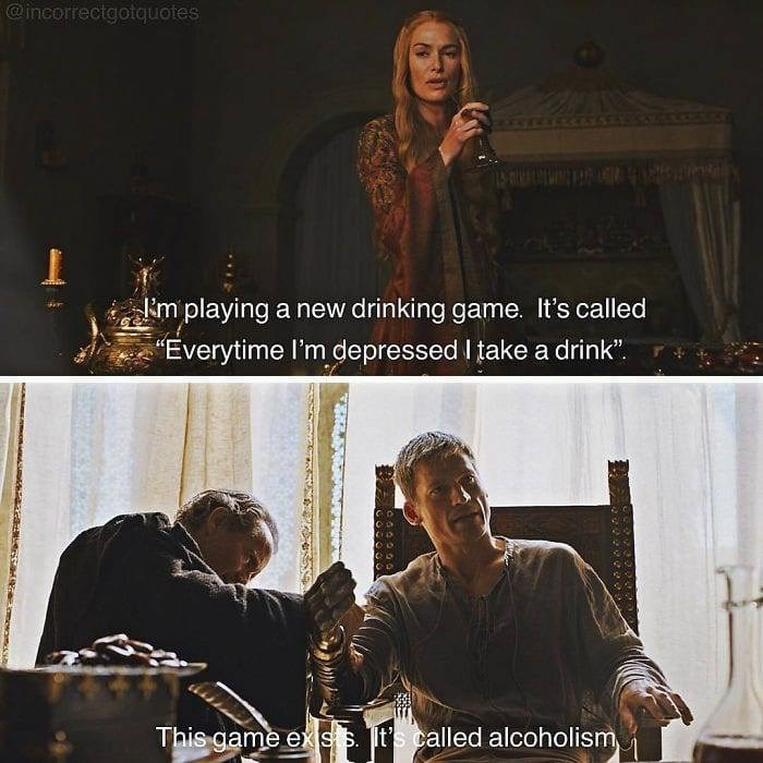 """Album cover - @incorrectgotquotes im playing a new drinking game. It's called Everytime I'm depressed I take a drink"""" This game ex ss t's called alcoholism mewoms"""