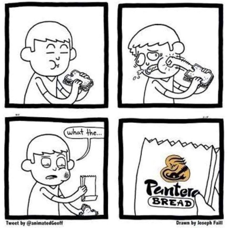 funny meme - White - what the... aaaaan Pantere BREAD Drawn by Joseph Fail Tweet by @animatedGeoff